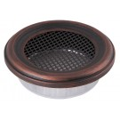 Grila rotunda copper-patina 125mm