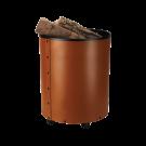 Cos lemne maro din piele 50xØ38cm